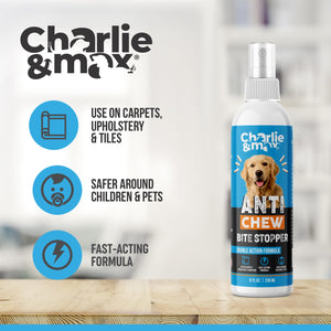Premium Anti-Chew Spray For Dogs And Cats - Buy 2 Get 1 Free - Charlie & Max®
