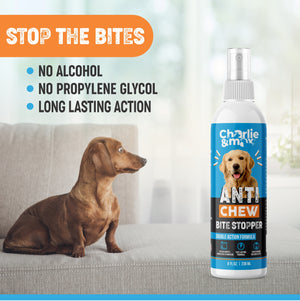 Premium Anti-Chew Spray For Dogs And Cats - 8 Oz. - Charlie & Max®