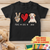 Peace Love Dog - Personalized Custom Youth T-shirt
