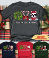 Peace Love Dog Christmas - Personalized Custom Unisex T-shirt