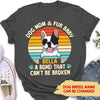 Dog Mom & Fur Baby - Personalized Custom Women's T-shirt