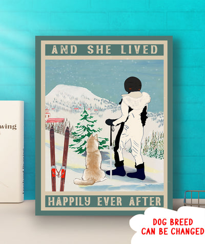 Happily Ever After With Dog - Personalized Custom Matte Canvas - Gifts For Dog Lovers