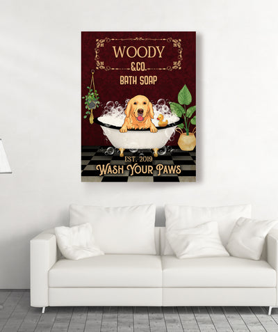 Wash Your Paws - Personalized Custom Canvas