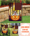 Dog Lovers Halloween Garden Flag - Personalized Custom Garden Flag