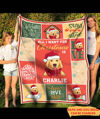 All I want - Personalized Custom Fleece Blanket