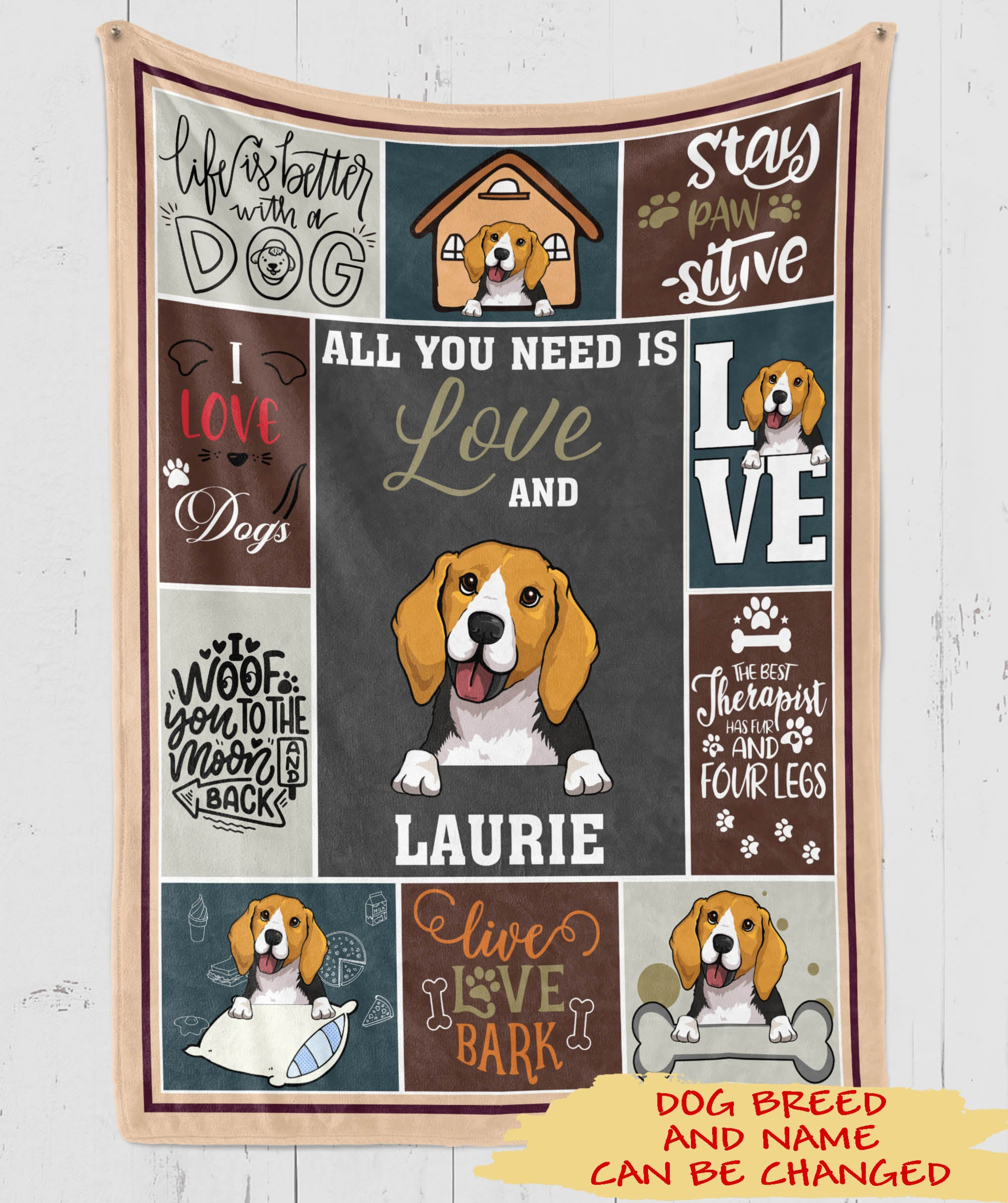 All You Need - Personalized Custom Fleece Blanket