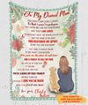 I Will Be By Your Side - Personalized Custom Fleece Blanket