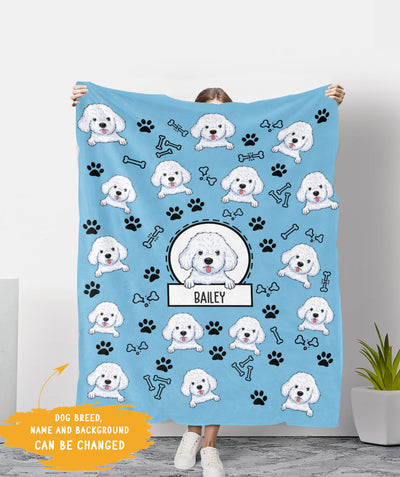 Lovely Dog - Personalized Custom Fleece Blanket - Gifts For Dog Lovers