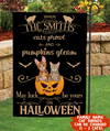 May Luck Be Yours On Halloween - Personalized Custom Garden Flag