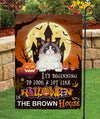 It's beginning to look a lot like Halloween - Personalized Custom Garden Flag