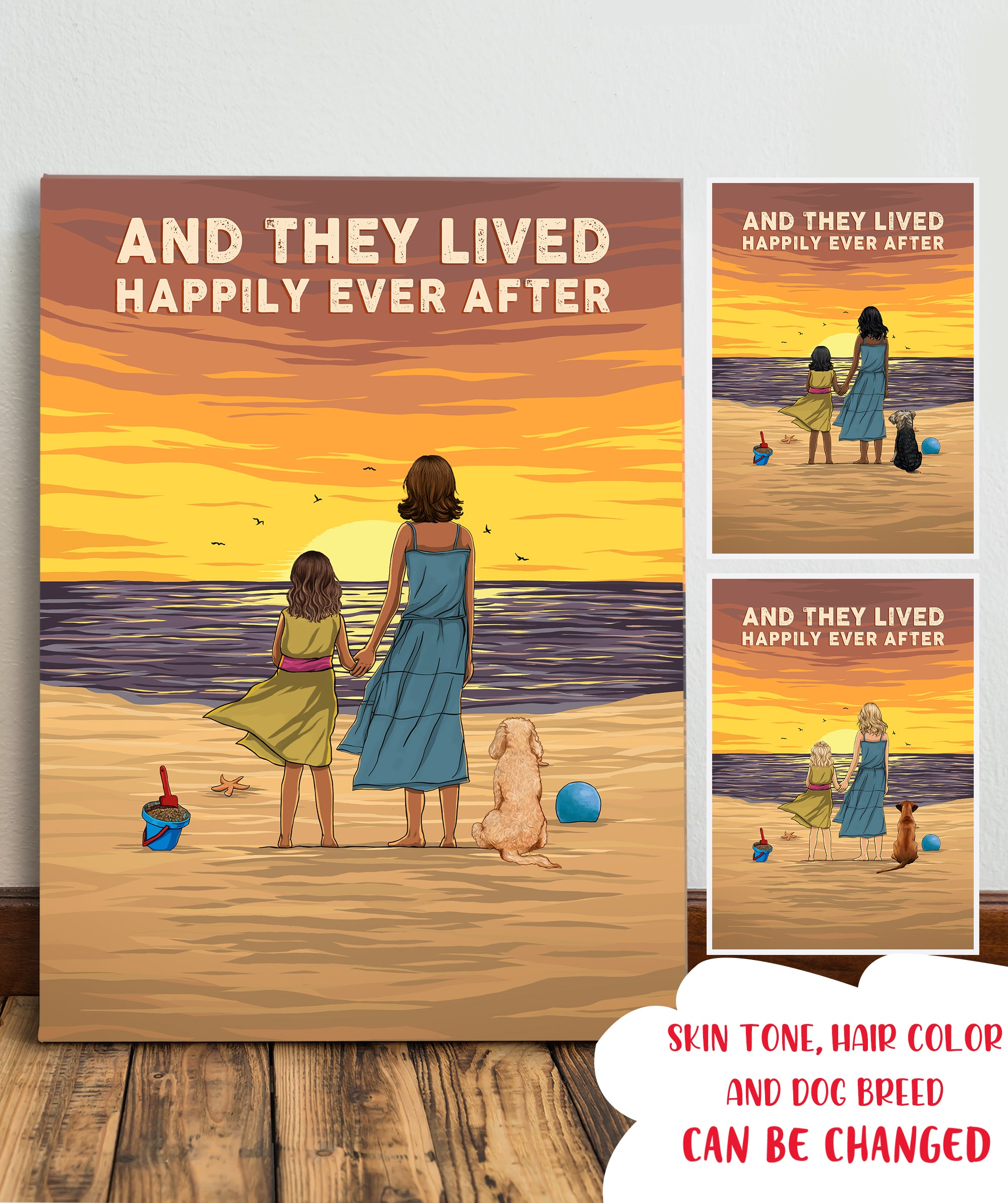Sunset On The Beach - Personalized Custom Canvas