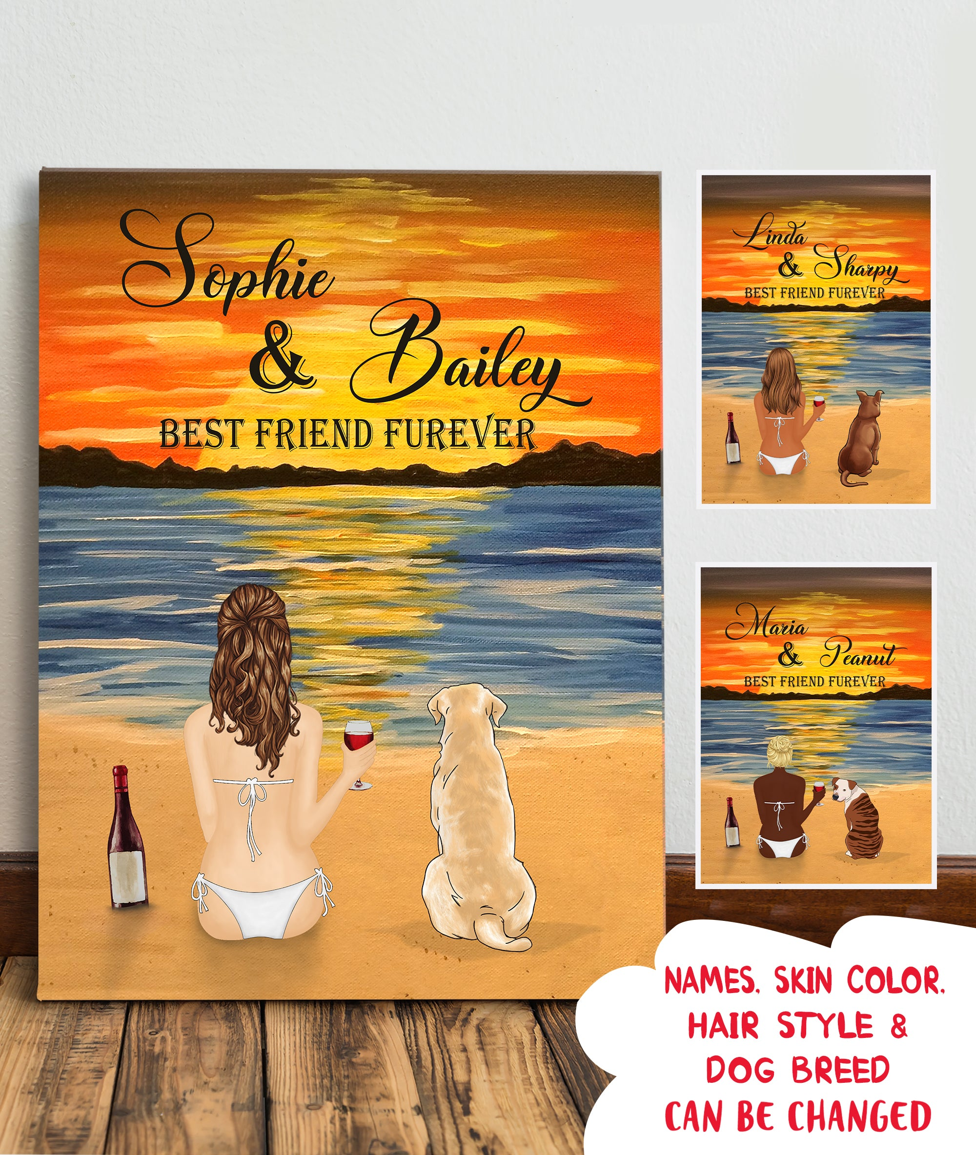 Best Friend Furever - Personalized Custom Canvas