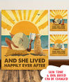 Dog Happily Ever After - Personalized Custom Canvas - Dog, Beach and Book