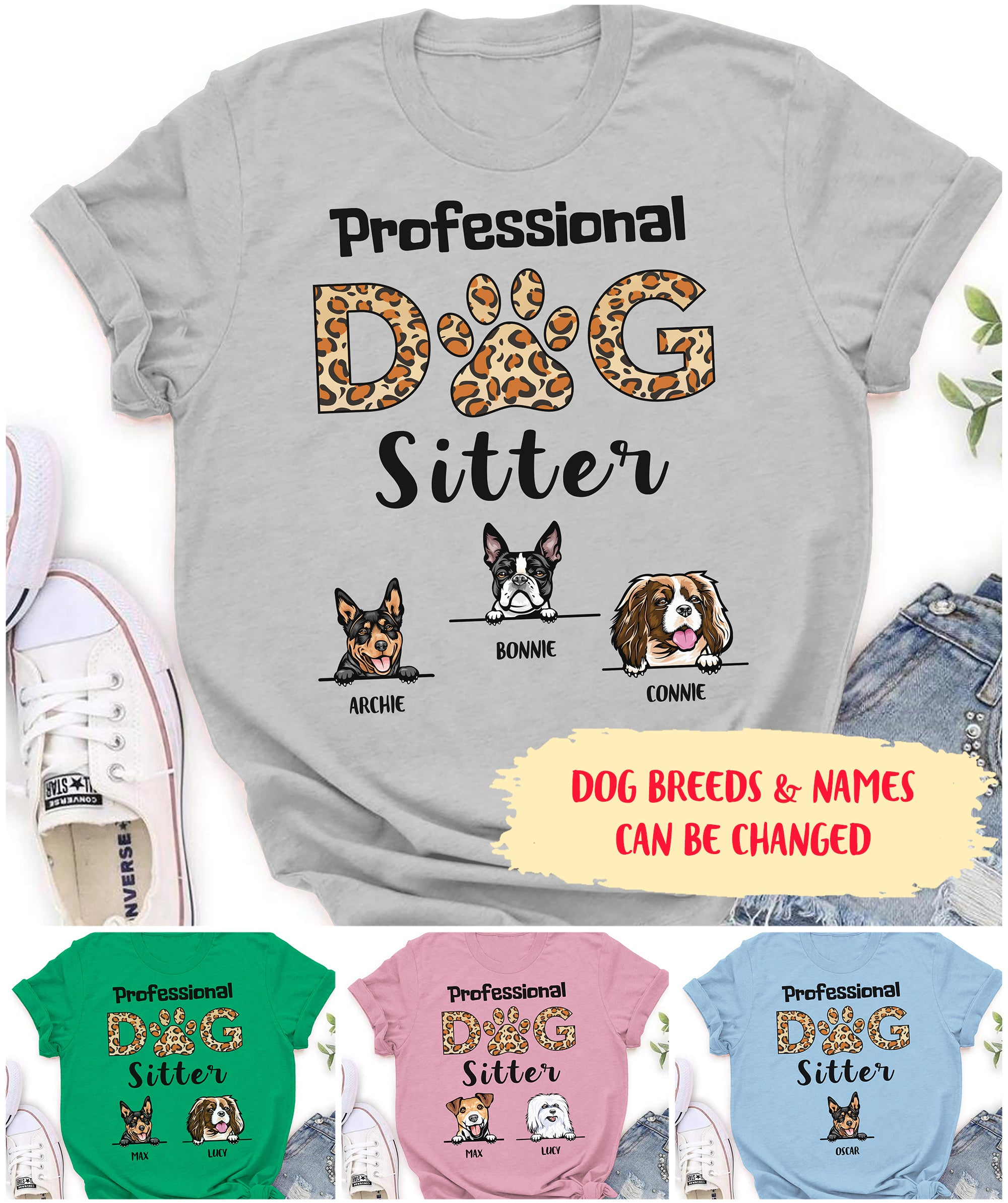 Professional Dog Sitter - Personalized Custom Unisex T-shirt