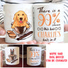 90% Chance Dog Hair - Personalized Custom Coffee Mug
