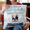 Favorite Hello - Personalized Custom Linen Pillow - Memorial Gift