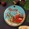 Meowy Catmas - Personalized Ceramic Christmas Ornaments