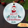 Dog's First Christmas - Personalized Ceramic Christmas Ornaments