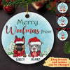 Merry Christmas From The Dog - Personalized Ceramic Christmas Ornaments