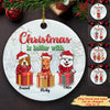 Christmas Is Better - Personalized Ceramic Christmas Ornaments - Dog Ornaments