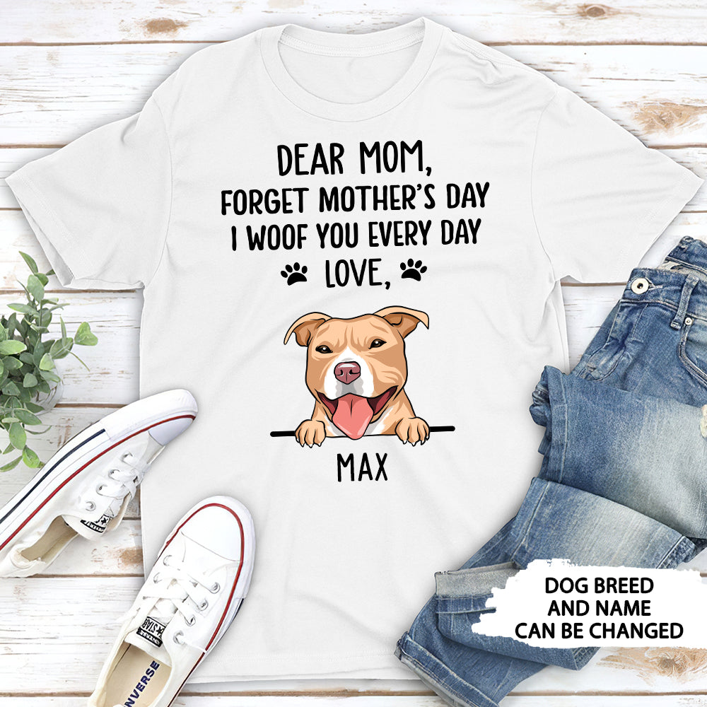 I Woof You Every Day - Personalized Custom Unisex T-shirt