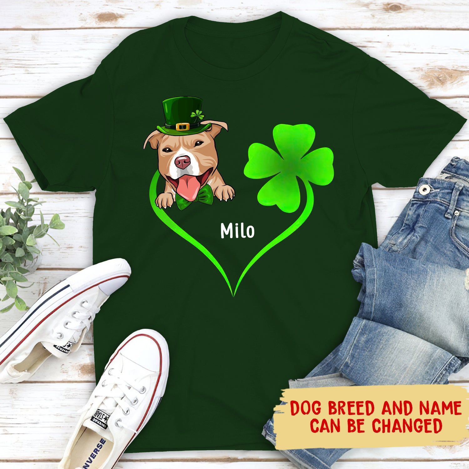 St. Patrick Dog Shirt - Personalized Custom Unisex T-shirt - Gifts For Dog Lovers