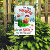 Save Santa The Trip - Personalized Custom Garden Flag