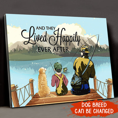 Lived Happily Ever After Dad Son - Personalized Custom Canvas