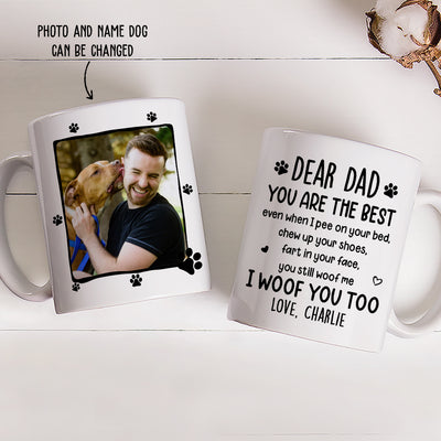 I Woof You Too - Personalized Custom Coffee Mug - Gifts For Dog Lovers