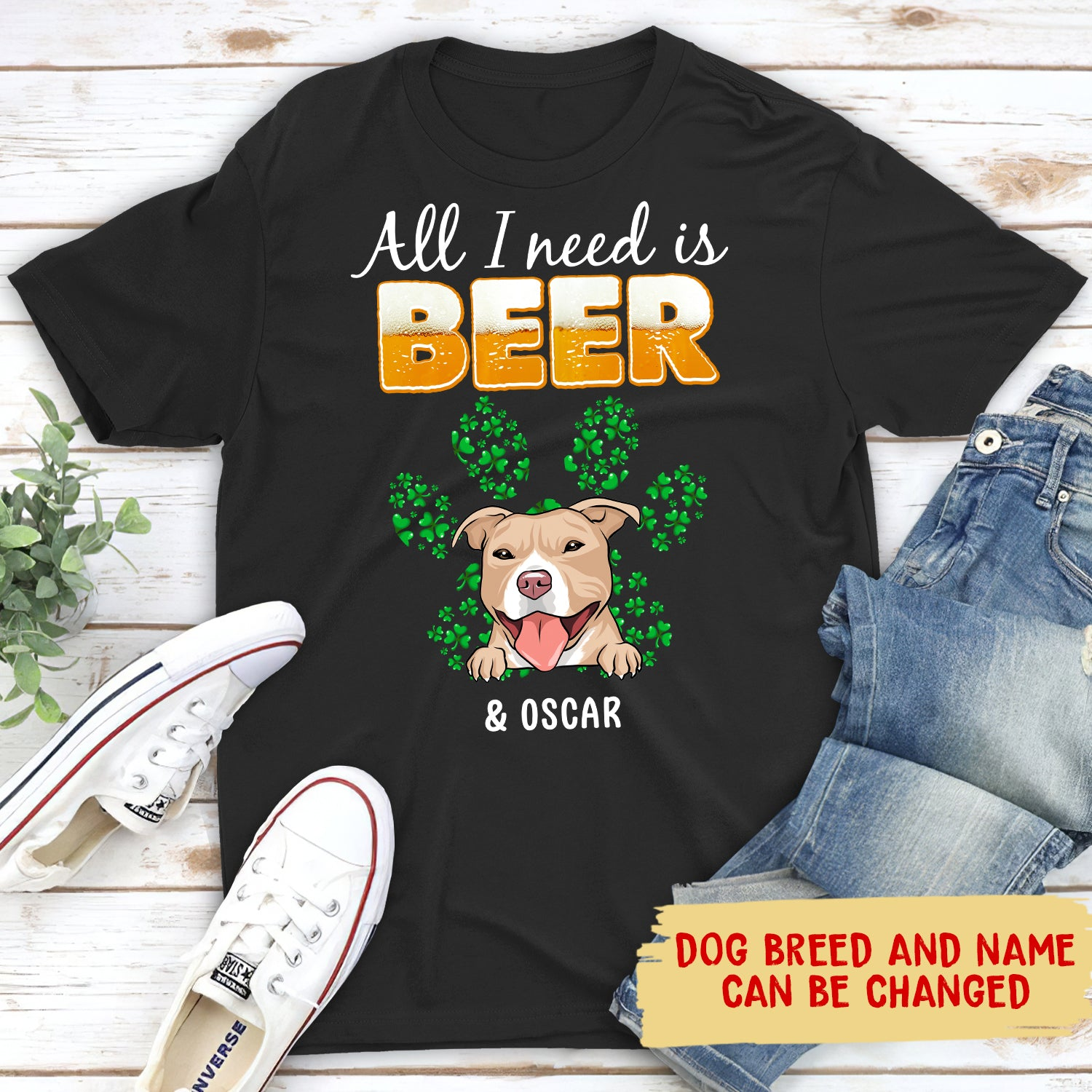 All I need (Beer) - Personalized custom premium T-shirt