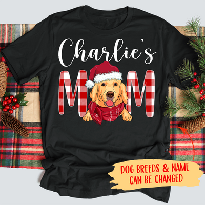 Christmas Dog Mom/Dad - Personalized Custom Premium T-shirt