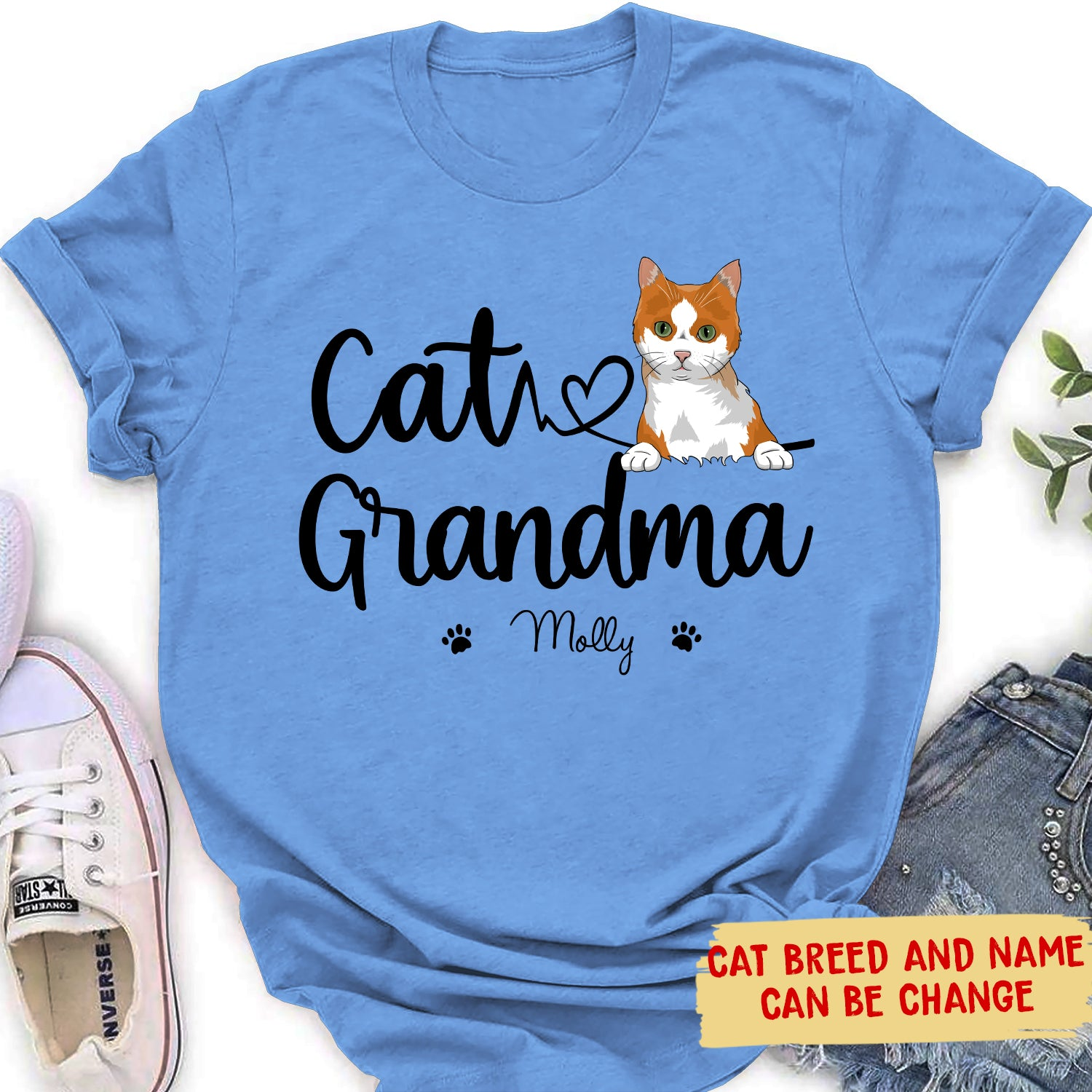 Cat Grandma - Personalized Custom Women's T-shirt - Gifts For Cat Lovers
