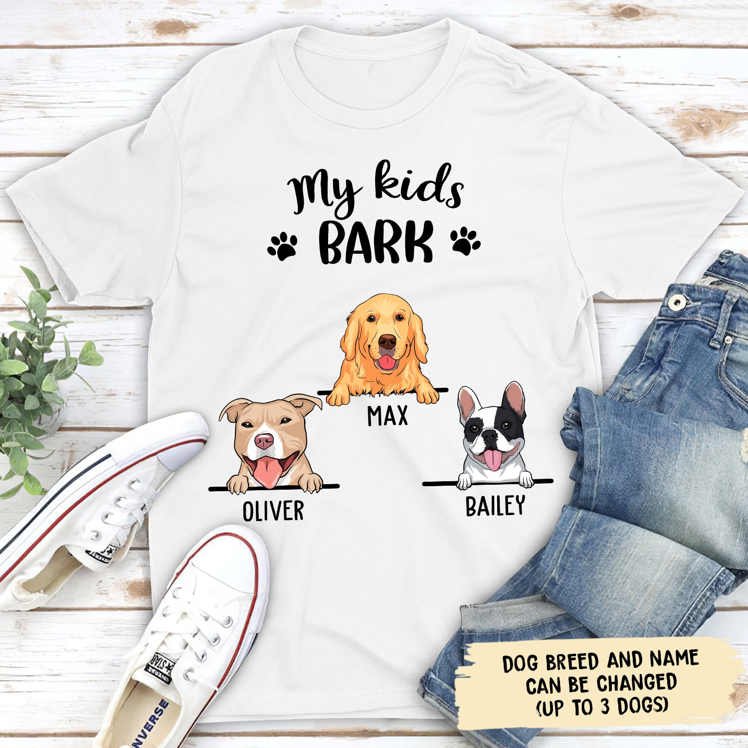 My Kid Barks 1 - Personalized Custom Unisex T-shirt