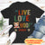 Live, Love, Woof - Personalized Custom Unisex T-shirt