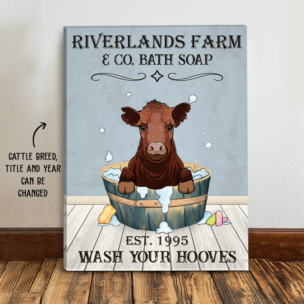 Wash Your Hooves - Personalized Custom Canvas