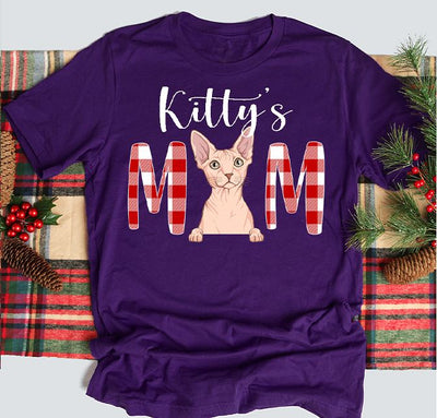 Christmas Cat Mom/Dad - Personalized Custom Unisex T-shirt