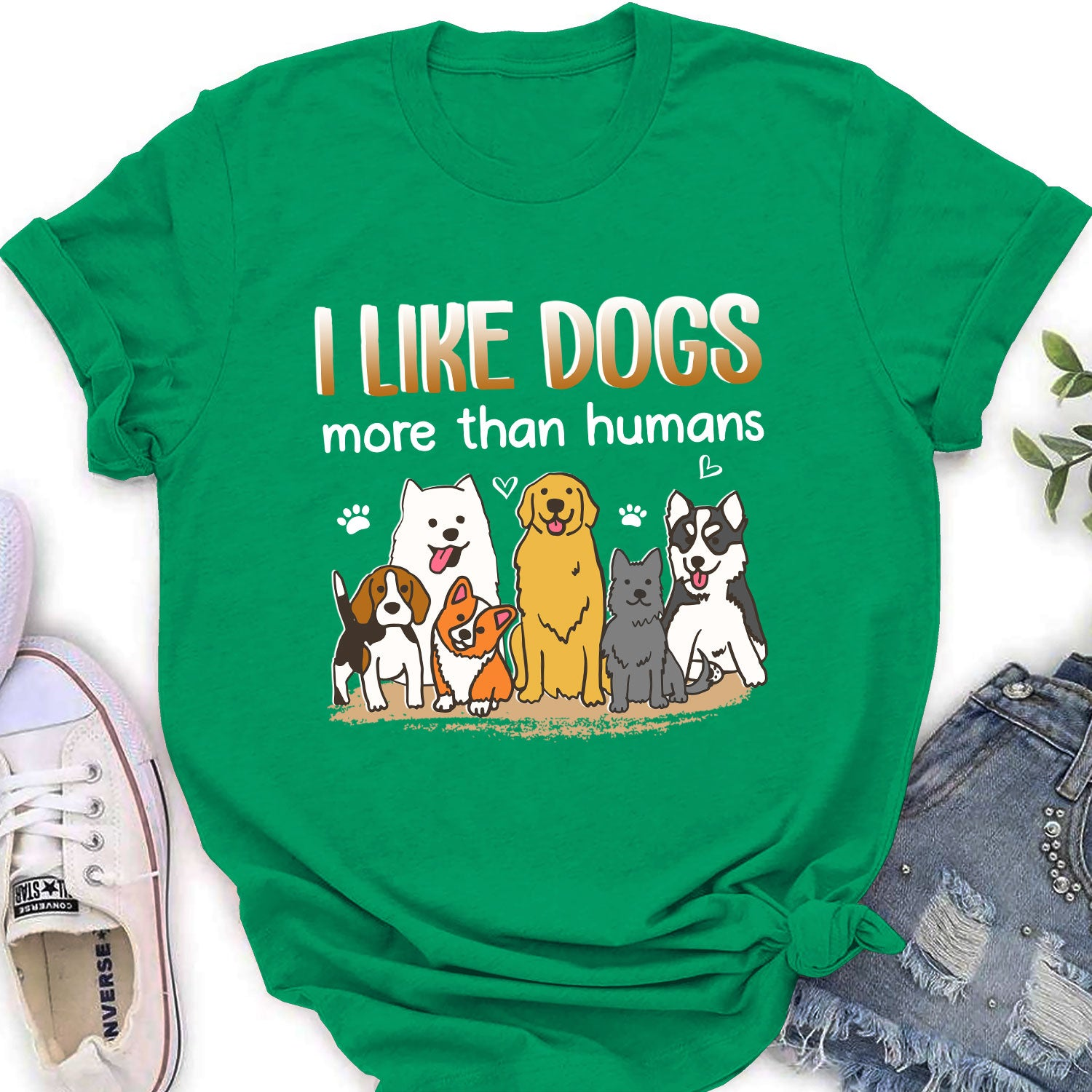 I like dogs - Classic  women's T-shirt