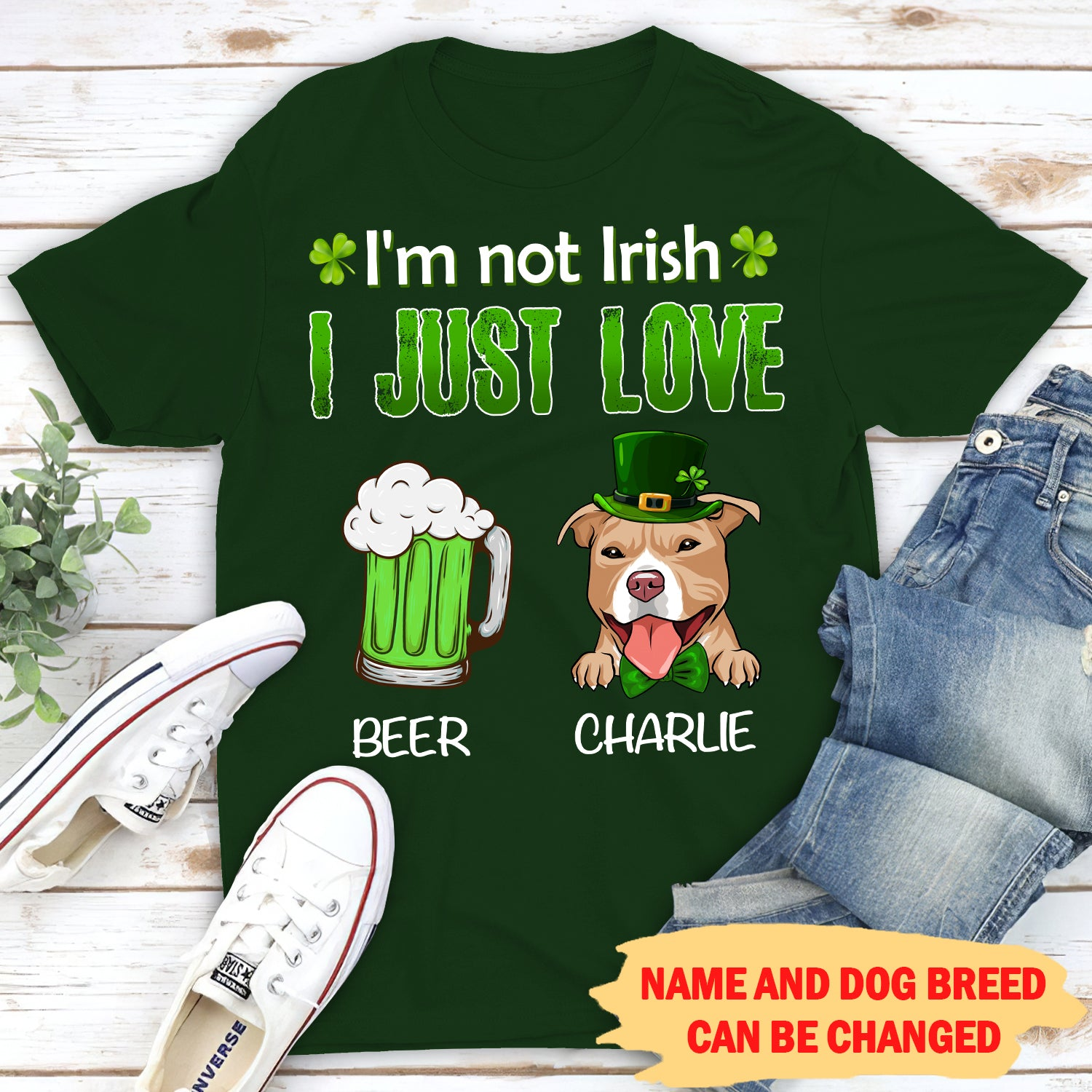 I Just Love Beer And Dog - Personalized Custom Unisex T-Shirt