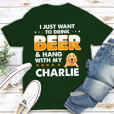Beer and Dog - Personalized Custom T-shirt