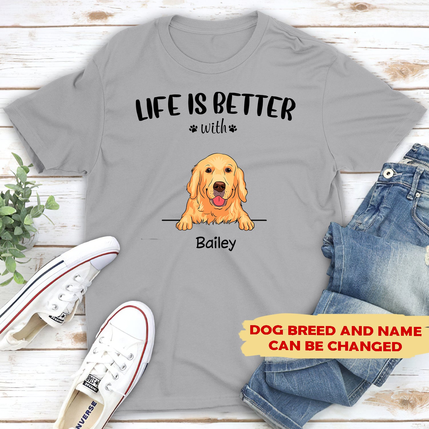 Be The Person Your Dog Thinks You Are T Shirt Slouch Fit Unisex Tee Love Dogs
