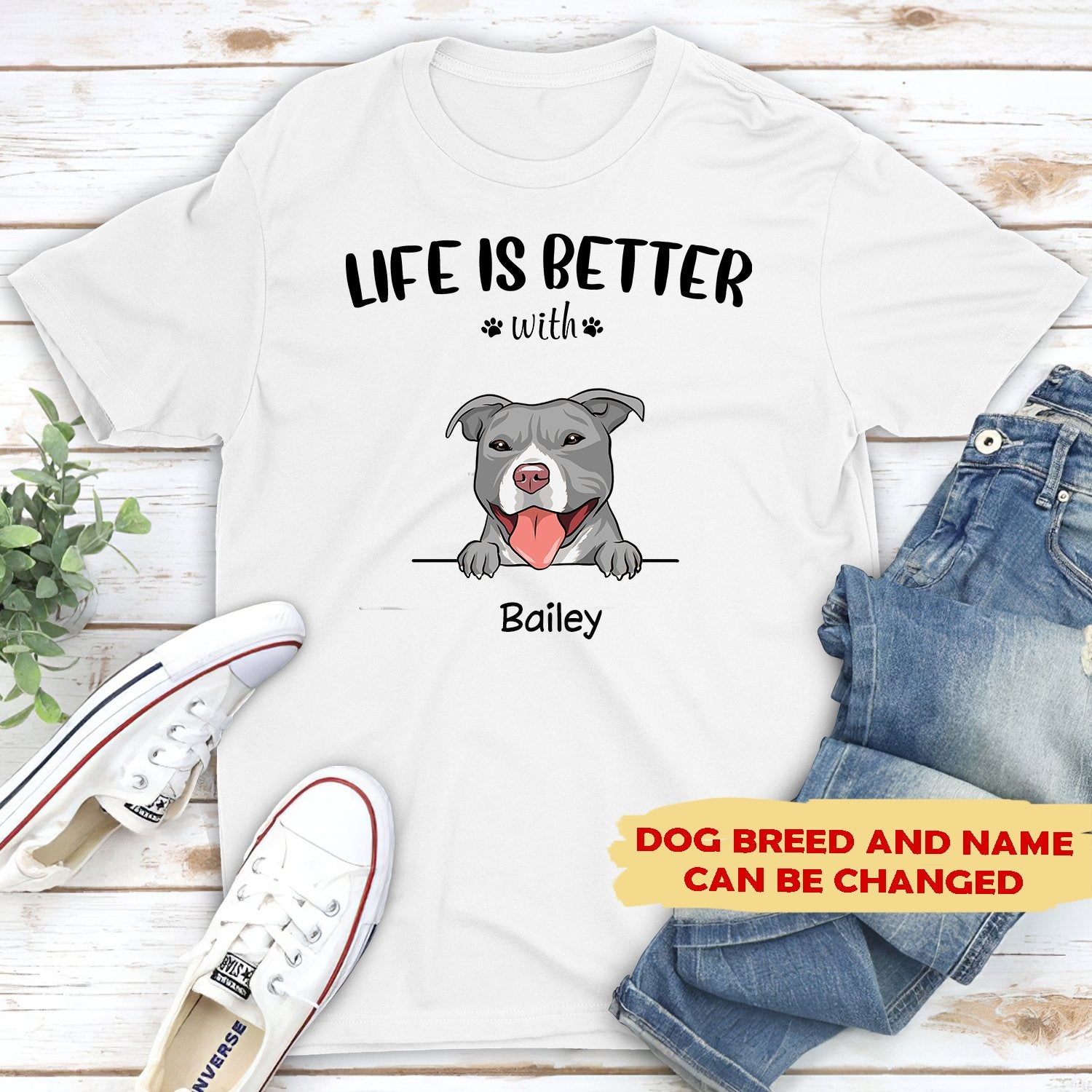 Life is better - Personalized custom premium unisex T-shirt