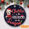 Dog Is The Reason - Personalized Ceramic Christmas Ornaments