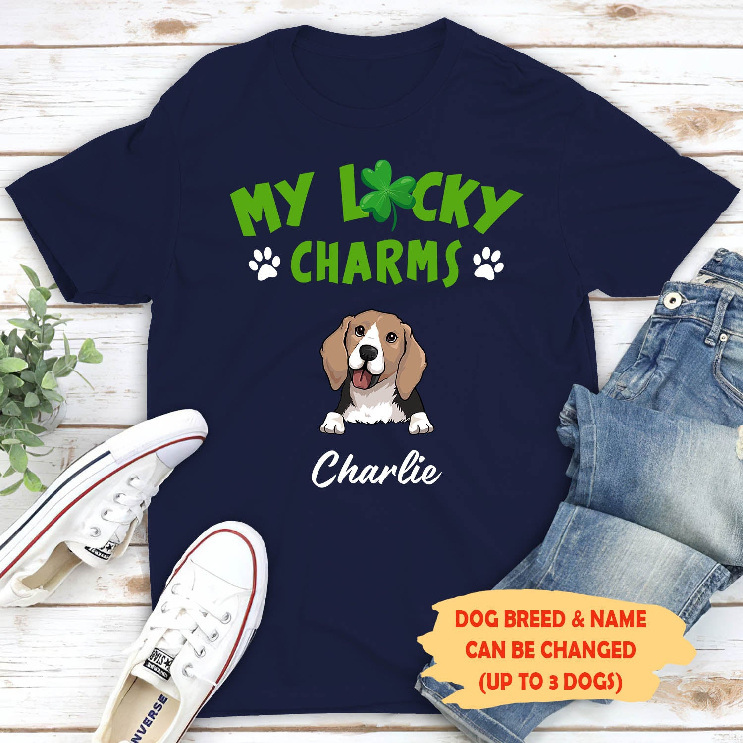 My Lucky Charms - Personalized Custom Unisex T-shirt