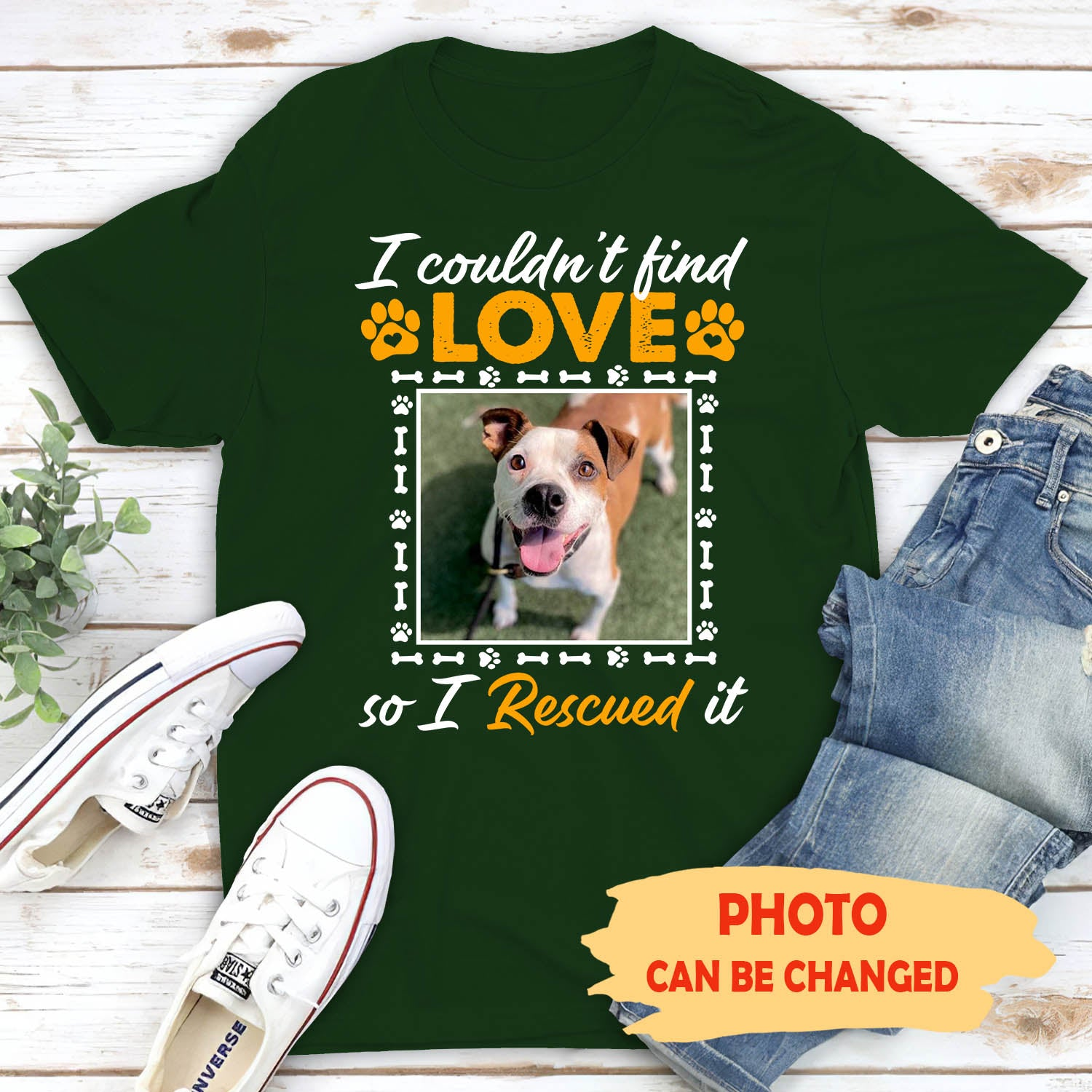 Rescue Love - Personalized Custom Unisex T-shirt