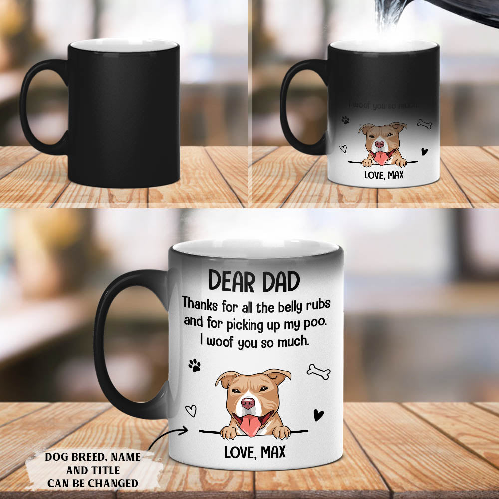 Belly Rub - Personalized Custom Color Changing Mug