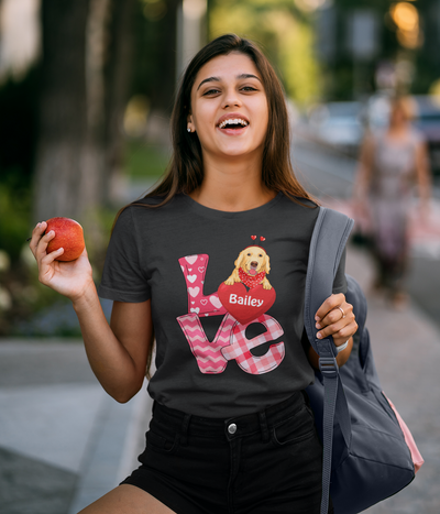 Love Valentine - Personalized Custom Unisex T-shirt