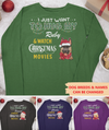 Hug My Dog & Watch Christmas Movies - Personalized Custom Long Sleeve