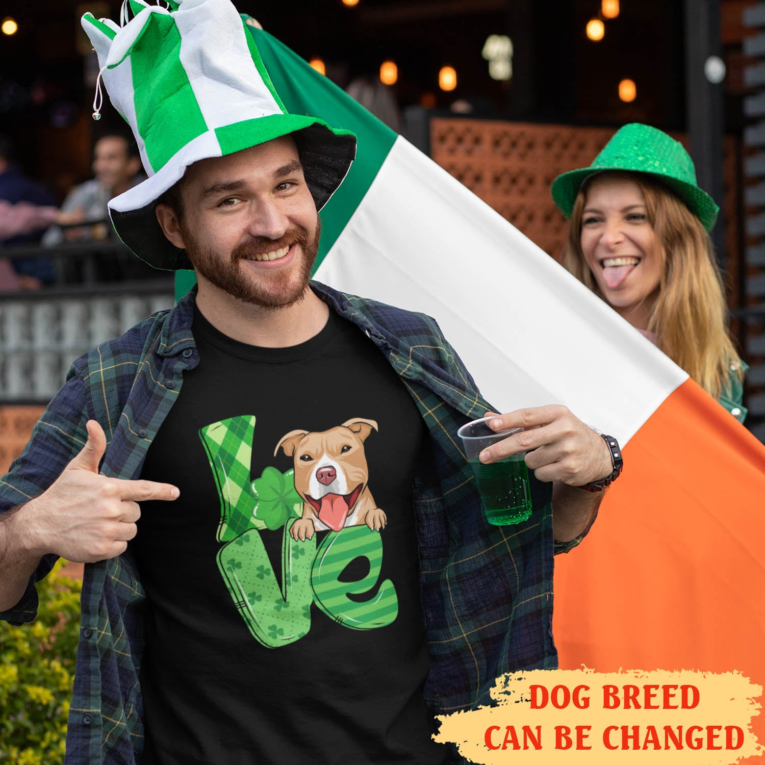 Love St. Patrick - Personalized Custom Premium T-shirt - Gifts For Dog Lovers