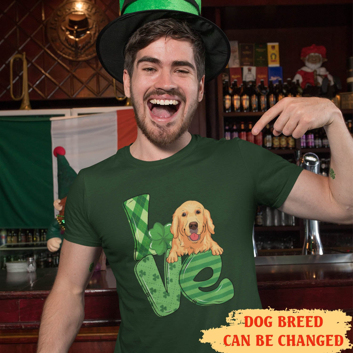 Love St Patrick - Personalized Custom Unisex T-shirt - Gifts For Dog Lovers