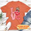 Love Dog Valentine - Personalized Custom Premium T-Shirt